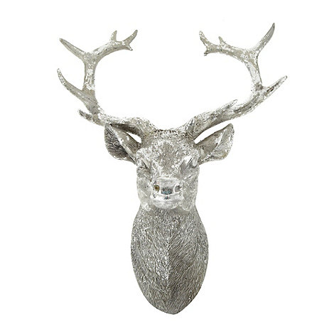 Debenhams - Silver resin stag head
