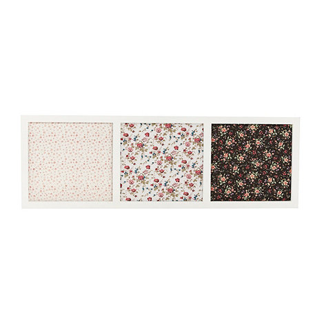 Home Collection - White triple floral pin board