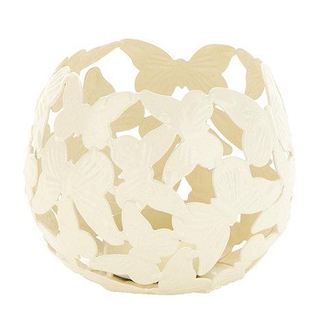 Debenhams - Cream butterfly tealight holder