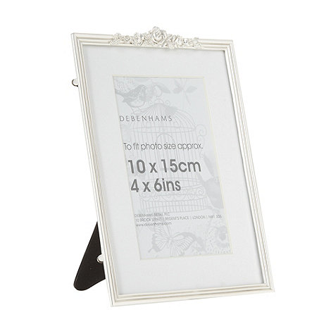 Debenhams - Metal flower 4x6 inch photo frame
