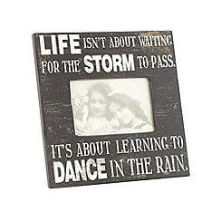 Heaven Sends - Wood black 'Dance In The Rain' photo frame
