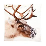 White moose print cushion