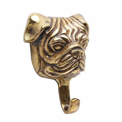 Parlane - Gold wall-mounted bulldog ornament