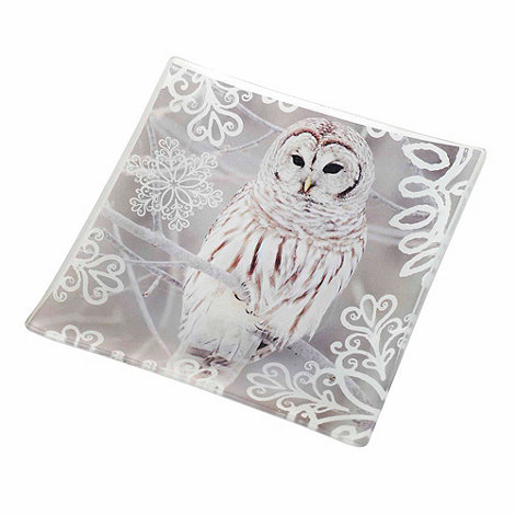 Parlane - White square owl dish