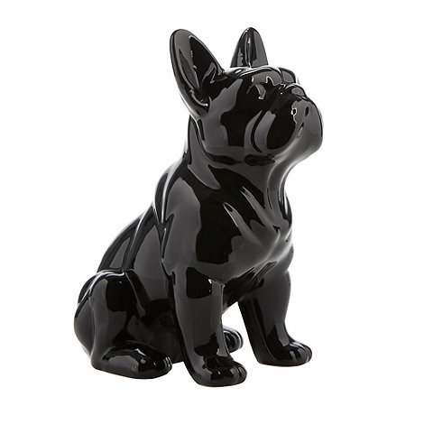 Sass & Belle - Black ceramic dog shaped money box