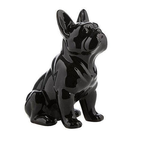 Sass & Belle - Black ceramic dog shaped money box