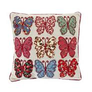 Pink patchwork butterflies scatter cushion