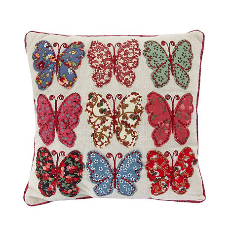 dotcomgiftshop - Pink patchwork butterflies scatter cushion