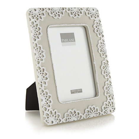 Parlane - Light grey floral 4x6 inch photo frame