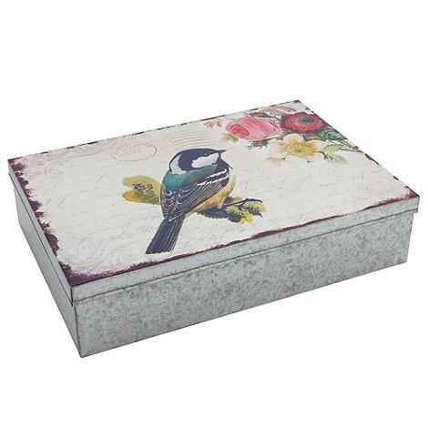 Sass & Belle - Metal bird storage box