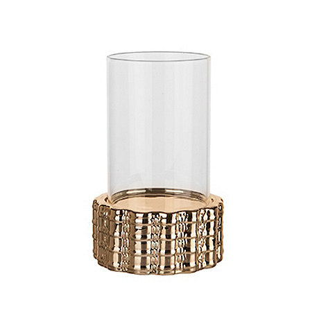 Sia - Gold diamant  hurricane tealight holder