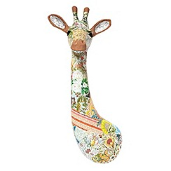 Debenhams - Brown patchwork giraffe wall art