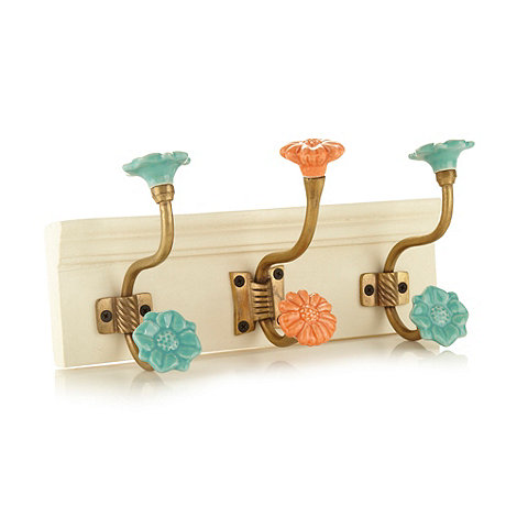 Debenhams - Wooden set of three coat hooks