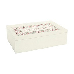 Debenhams - Cream memories keepsake box