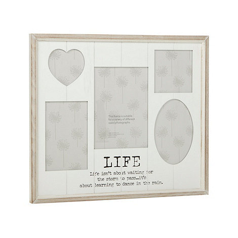 Debenhams - White wood +Life+ multi photo frame