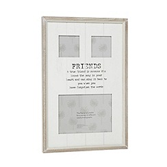 Debenhams - White wood 'Friend' multi photo frame