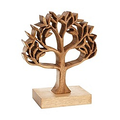 Debenhams - Wooden cutout carved tree ornament