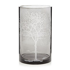 Debenhams - Glass etched tree pillar candle holder