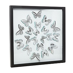 Debenhams - White 3D butterfly wall art