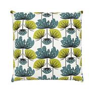 Dark Green floral cushion
