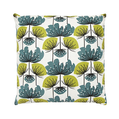 Debenhams - Dark Green floral cushion