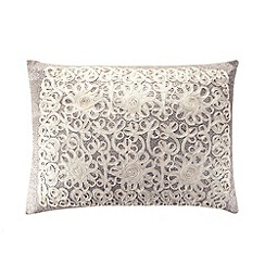 Debenhams - Silver tape textured cushion