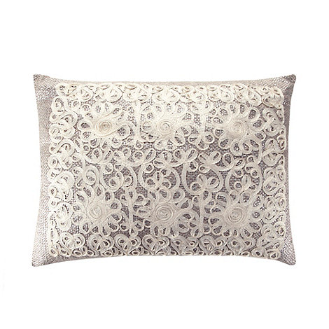 Home Collection - Silver tape textured cushion