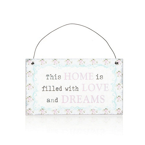 Sass & Belle - Pink home hanging sign