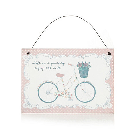 Sass & Belle - Pink bicycle hanging sign