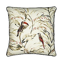 Home Collection - Green embroidered bird cushion