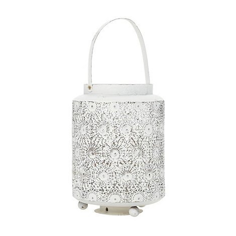 Parlane - White floral cut out candle holder
