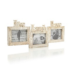 Sass & Belle - Wood 'Live Laugh Love' triple photo frame