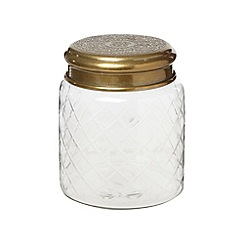 Nkuku - Small gold etched lid glass jar
