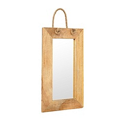 Debenhams - Wooden rope handle mirror
