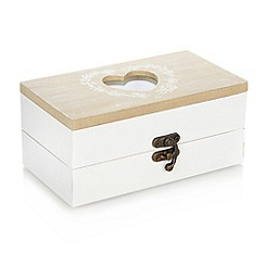 Debenhams - Wooden heart trinket box