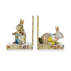 Debenhams - Pair of paper decoupage covered rabbits