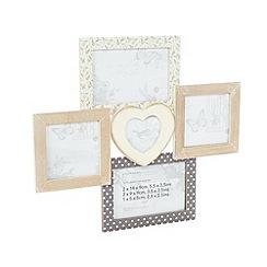 Debenhams - Cream wooden multi photo frame