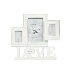 Debenhams - Cream multi 'Love' photo frame
