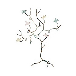 Sass & Belle - Light green birds in tree jewellery holder