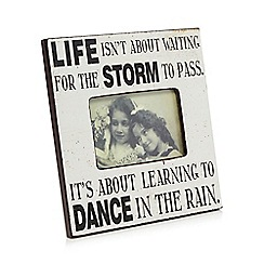 Heavens Send - White 'dance in the rain' photo frame