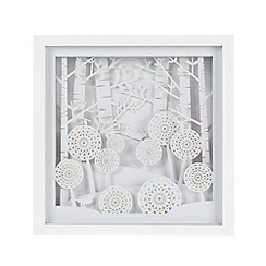 Debenhams - White 3D layered wall art