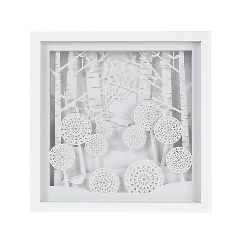 Home Collection - White 3D layered wall art
