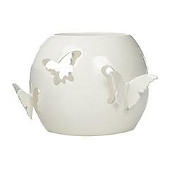 Debenhams - Porcelain butterfly cutout tea light holder