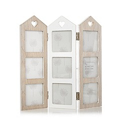 Debenhams - Wooden folding house multiple photo frame