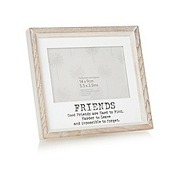 Debenhams - Wooden 'Friends' 5.5 x 3.5 inch photo frame