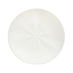 Debenhams - Ceramic white zig zag bowl