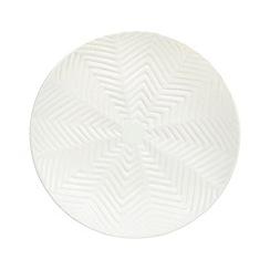 Debenhams - Ceramic white zig zag bowl