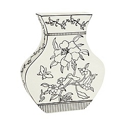 Debenhams - Large ceramic 'Bloomsbury' flat vase