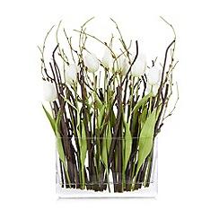 Debenhams - White tulip and twig arrangement