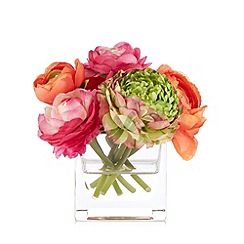 Debenhams - Faux ranunculus flowers in vase